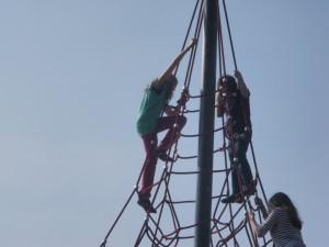 Auf der Kletterspinne